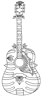 Electric guitar line drawing