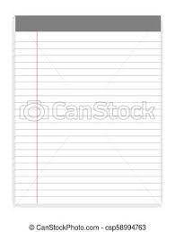 Lined Letter Format Writing Pads With Margin Vector Mock Up Sticky