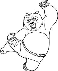 Kung Fu Panda 3 Coloring Pages Color Bros