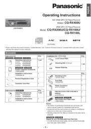 cq rx200u panasonic wma cd player am fm receiver manual manual location