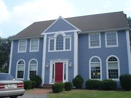 Blue House Paint And Gorgeous House Exterior Paint Colors Ideas - House exterior paint ideas