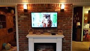 mounting tv on brick how diy mount tv brick fireplace