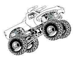 Monster Truck Invites Grave Digger Monster Truck Coloring Pages