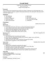 Resume Hair Stylist Beautiful Best Resume Maker Create My Resume