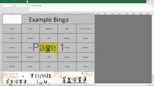 Excel Bingo Template Bingo Template Excel Free Card Generator For Youtube Baby Shower