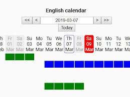 Horizontal Calendar Dynamic Horizontal Calendar With Events Jquery Rescalendar