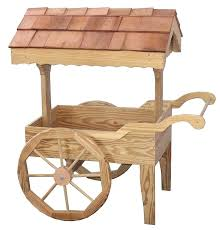 wooden garden cart antique large