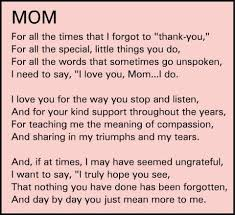 best thank you mom ideas mom poems from thank you mom quotes from daughter google search love my