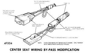 seatbelts emergency override switch switch is located in engine compartment on right inner fender panel to remove disconnect wire connector and remove switch