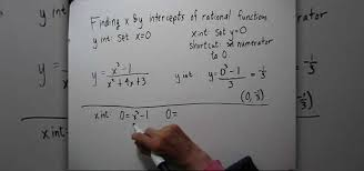 how to find the x y intercepts of rational functions math wonderhowto