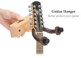 r wooden base guitar hanger wall mount hooks stand holder al instrument accessory