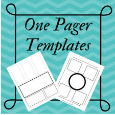Freebie One Pager Templates By Mowders Middle School