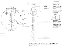 metal stud framing details. Stone Veneer Replacement Metal Stud Framing Details