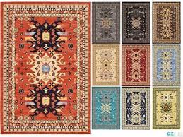 classic traditional geometric area rug qashqai heriz rugs carpet in all sizes
