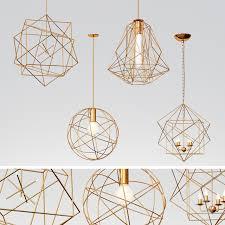 5 geometric pendant lights
