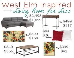 West Elm Living Room West Elm Living Room For Less