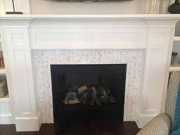 fireplaces mosaic tile fireplace surround stunning basement ideas home interior 8