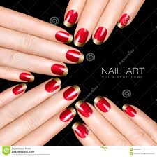 Nail Art Trend. Luxury Nail Polish. Nail Stickers Stock Photo ...