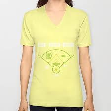 Society6 T Shirt Size Chart Baseball Chart Why Because Nobody Gift Unisex V Neck By Mrniceguy83