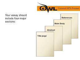 apa formatting and style guide ppt  your essay should include four major sections general apa format