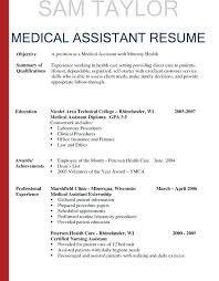 Medical Assistant Resumes Examples Download Medical Assistant Job ...