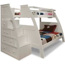 white bunk bed with stairs. Bunk Bed Steps Only Canwood Overland Twin Over Full With Built In  Stair Drawers White Stairs