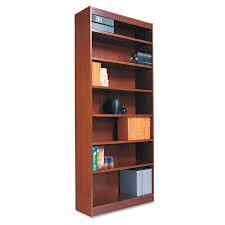 Amazon.com: Alera ALEBCS33636MY Square Corner Wood Veneer Bookcase, Three- Shelf, 35-5/8 x 11-3/4 x 36, Mahogany: Kitchen & Dining