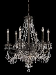 9 lights wrought iron crystal chandelier