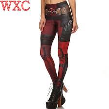 y s superhero deadpool cosplay ic cartoon print leggings skinny stretch fitness leggings women workout pants