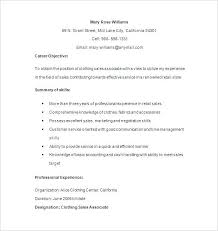 Resume Format For Retail Retail Sales Resume Sample Resume Examples