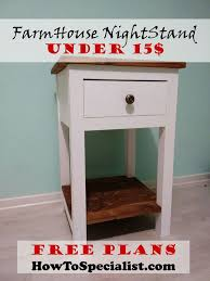 how to build bedroom furniture. How To Build A Farmhouse Nightstand | HowToSpecialist - Build, Step By Bedroom Furniture