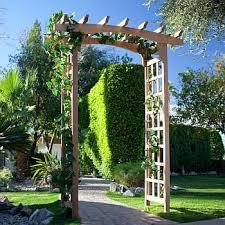 garden arbors arches trellis wood