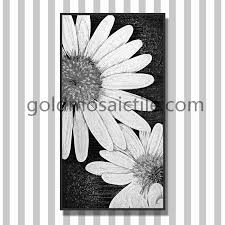 jy jh d02 c handmade flower mosaic tile picture wall hanging glass painting