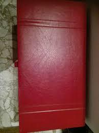 Große Kiste Im Leder Optik Rot