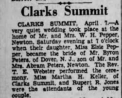 Marriage - Byron Peters & Elsie Pepper - Newspapers.com