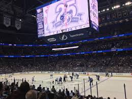 Amalie Arena Section 129 Row P Seat 16 Tampa Bay