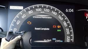 2019 Rav4 Reset Maintenance Light 2019 Toyota Rav4 How To Reset Scheduled Maintenance Indicator