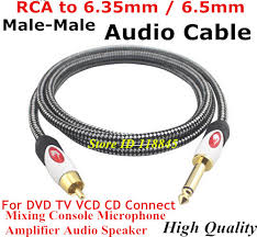 online buy whole speaker wire from speaker wire 1m 2m 3m 5m 8m male rca to 6 35mm 6 5mm 1