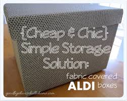 chic simple storage diy fabric covered aldi boxes