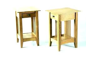very small side table narrow bedside with drawers oak veneer white bedsi