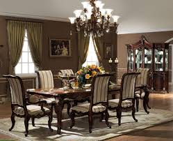 grey dining room furniture. Formal Dining Room Sets Dark Brown Finishing Long Wooden Table Traditional Style Chairs Designed Rectangular White Shelves Loose Grey Furniture