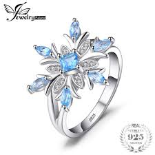 2019 jewelrypalace snowflake genuine blue topaz ring solid 925 sterling silver jewelry fashion ring for women gift on y18102510 from gou10