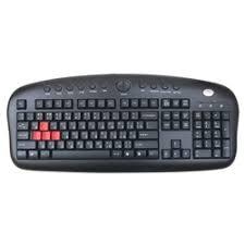 «<b>Клавиатура A4Tech</b> KB-28G-1 черная, <b>проводная</b>, USB, <b>игровая</b> ...