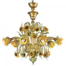 furniture cool murano glass chandelier 1 girasole sunflowers murano glass chandeliers venice italy