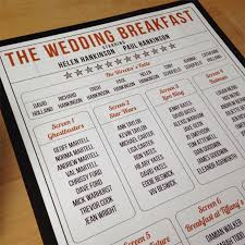 table names wedding. Movie Themed Table Names Wedding -