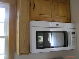 Kitchen Cabinet For Microwave Ideas Tips White Ge Spacemaker Microwave With Wood Cabinets For