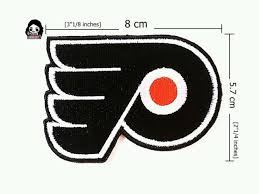 flyers nhl philadelphia flyers nhl logo embroidery iron sewing patch on fabric