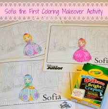 Sofia The First Bedroom Sofia The First Coloring Makeover Activity Brie Brie Blooms
