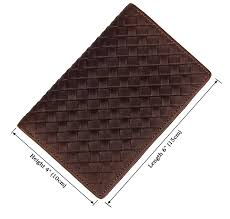 details about mens genuine leather bifold wallet reticular pattern similar weave purse coffee