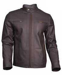 original real cow leather jacket gray